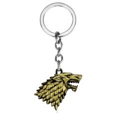 Stark Wolf Antique Gold  Heavy Duty Metallic Key chain