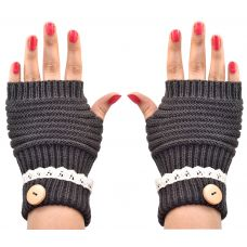 Cozy & Warm Fingerless Winter Gloves for Women (Grey)