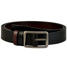 Classic Matte Finish Pin Buckle Exclusive Smooth Matte Finish Art Reversible Leather Belt for Men