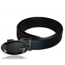 Luxury Dual Tone Black Auto-Lock Buckle Genuine Leather Ratchet Belt for Men