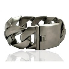 Majestic Miami Cuban  Links Big & Chunky Matte Finish 316L Stainless Steel Bracelet for Men