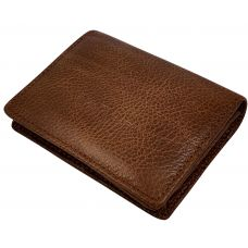 Tan Brown Minimalist Luxury Genuine Leather Credit Card Visiting Card Holder