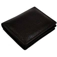 Jet Black Minimalist Luxury Genuine Leather Credit Card Visiting Card Holder