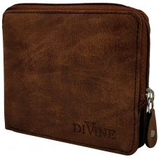 Divine Chocolate Brown Exclusive Zipper Wallet for Men
