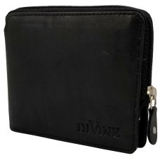 Divine Black Exclusive Zipper Wallet for Men