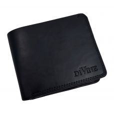 Divine Double Internal Zippers Dark Blue Wallet for Men