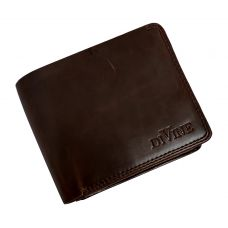Divine Double Internal Zippers Dark Brown Wallet for Men