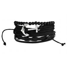 Set of Three Uber Gothic  Anchor Bracelet for Men