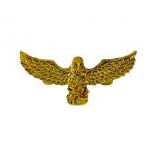 Golden Open Wings Hawk Tiny Brooch Lapel Pin for Men