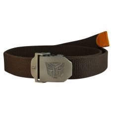 Transformers Autobots  Steel Buckle Free Size Dark Hickory Brown Webbed Tactical Canvas  Belt for Men