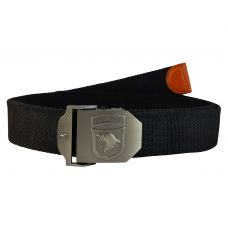 Proud Hawk Steel Buckle Free Size Night Black Webbed Tactical Canvas Belt for Men
