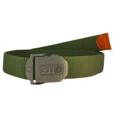 Heavy Duty Steel Buckle Free Size Moss Green Webbed Tactical Canvas Belt for Men