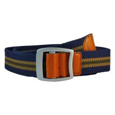 Bypass Buckle Striped Navy Blue Free Size Webbed Tactical Canvas Belt for Men