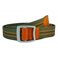 Bypass Buckle Striped Moss Green Free Size Webbed Tactical Canvas Belt for Men