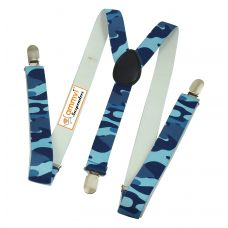 Blue Camouflage Printed Suspenders for Men