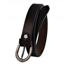 Textured Coffee Brown Women's Genuine Leather Belt
