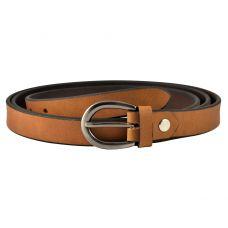 Soft Tan Brown Women's Genuine Leather Belt