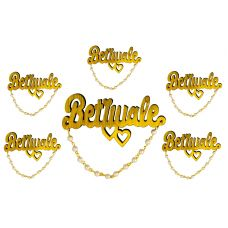 Pack of 6 High Quality Betiwale 3D Wooden Brooch Lapel Pin Unisex