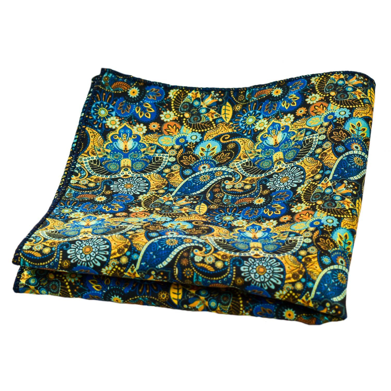 561e9e5567300 Men's Jacquard Microfiber Floral-Paisley Pattern Pocket Square  (Am-mps05,Multicolor,Free Size)