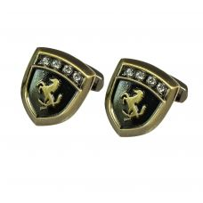 Stallion Badge Vintage Look Exclusive Cufflinks