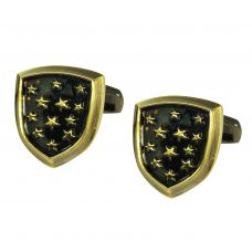 Starry Badge Vintage Look Exclusive Cufflinks