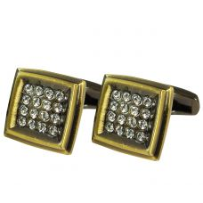 CZ Embellished Vintage Look Square Cufflinks