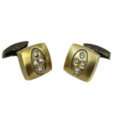 Curvy Square Chunky Vintage Look Cufflinks