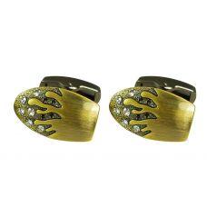 Royal Flames CZ Embellished Vintage Look Cufflinks