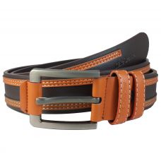 Duo Stripes Dark Brown Heavy Duty Belt for Men