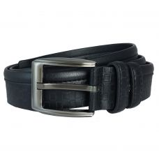 Black Brick Pattern Heavy Duty Semi-Formal Belt for Men