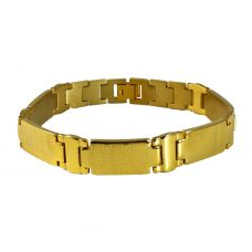 Gold Foamed Bubble Badges Elegant Luxury Bracelet for Men