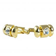 Golden Elegance  CZ Embellished Designer Cufflinks