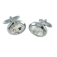 Nobel Affairs CZ solitaire Alloy Cufflinks