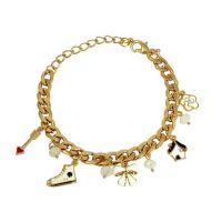 Cute Charms Gold Foamed Wheat Links Designer Adjustable Bracelet for Women-FBRLT4