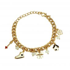 Cute Charms Gold Foamed Wheat Links Designer Adjustable Bracelet for Women-FBRLT4