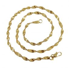 Ammvi Creations Classic Snake Pattern Sleek Gold Foamed Chain  Necklace for Men