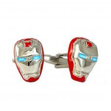 Ironman Reflective Silver Tone Cufflinks