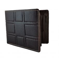 3D pattern Genuine Leather Brown Wallet for Men