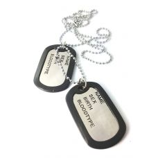 Electro Polished Classic Duo Pendant Dog tag Necklace For Men