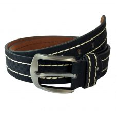 Ammvi Creations Heavy Duty Black Genuine Leather Belt for Men