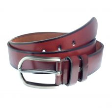 Ammvi Creations Sleek Buckle Coffee Brown PU Leather Belt For Men