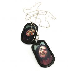 Bob Marley Graphic Changing Epoxy Designer Dog Tag for Men