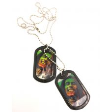 The Rastaferraian Graphic Changing Epoxy Designer Dog Tag for Men