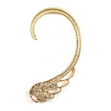 Ornate Diva CZ Embellished Alloy Ear Cuff (Left ear only)
