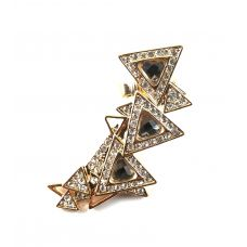 Trendy Triangles CZ Embellished Exclisive Designer Ear Cuff (Left ear only)
