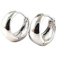Bollywood Style Elegant Polished Surgical Steel Hoop Earrings for Men