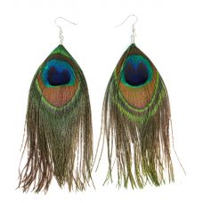 Peacock Feather Trendy Pair of Earrings for Women