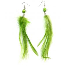 Fern Green Feather Earring for Women